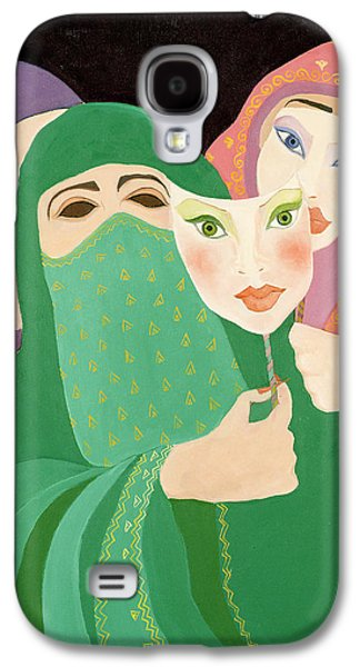 Personalities Photographs Galaxy S4 Cases - Masks, 1989 Acrylic On Canvas Galaxy S4 Case by Laila Shawa