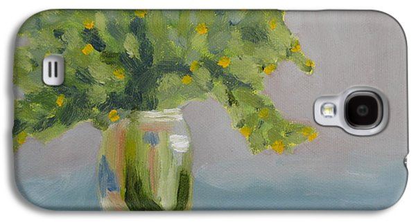 Water Jars Paintings Galaxy S4 Cases - Mason Jar One    available Galaxy S4 Case by Molly Fisk