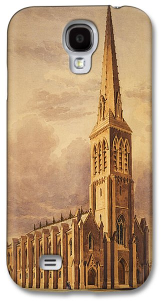 Building Drawings Galaxy S4 Cases - Masonry church circa 1850 Galaxy S4 Case by Aged Pixel