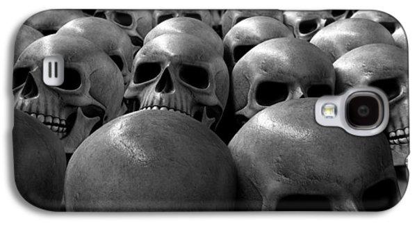 Creepy Digital Art Galaxy S4 Cases - Massacre Of Skulls Galaxy S4 Case by Allan Swart