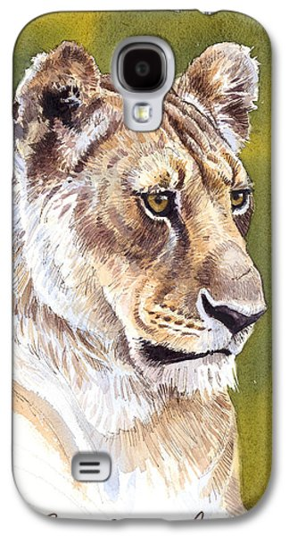 Lioness Galaxy S4 Cases - Massai Queen Galaxy S4 Case by Aaron Blaise