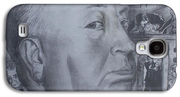 Films By Alfred Hitchcock Galaxy S4 Cases - Master of Suspense Galaxy S4 Case by Jeremy Reed