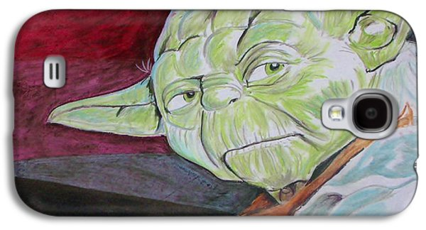 Science Fiction Pastels Galaxy S4 Cases - Master Yoda Galaxy S4 Case by Jeremy Moore