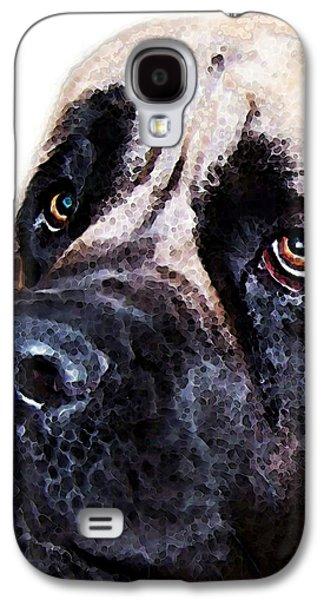 Breed Digital Art Galaxy S4 Cases - Mastiff Dog Art - Sad Eyes Galaxy S4 Case by Sharon Cummings