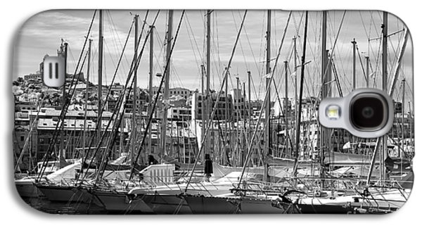 Sailboats In Water Galaxy S4 Cases - Masts in the Harbor Galaxy S4 Case by John Rizzuto
