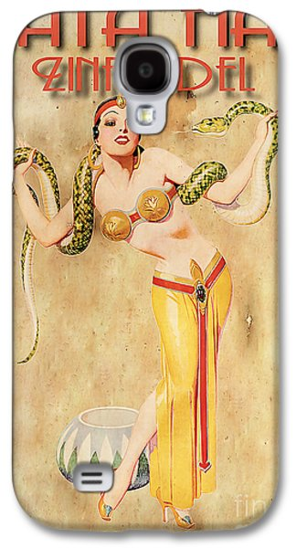 Harem Galaxy S4 Cases - Mata Hari Vintage Wine Ad Galaxy S4 Case by Cinema Photography