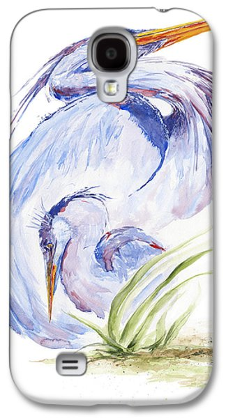 Baby Bird Galaxy S4 Cases - Maternal Heron Galaxy S4 Case by Eve McCauley
