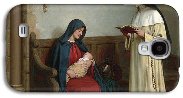 Sisters Paintings Galaxy S4 Cases - Maternity Galaxy S4 Case by Edmund Blair Leighton