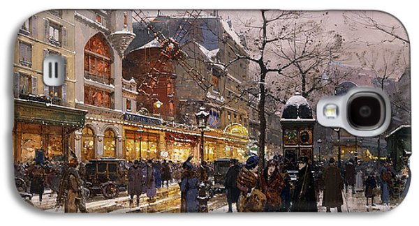 Wintry Galaxy S4 Cases - Matinee au Moulin Rouge Paris Galaxy S4 Case by Eugene Galien-Laloue
