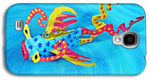 Animals Sculptures Galaxy S4 Cases - Matisse the Fish Galaxy S4 Case by Sarah Loft