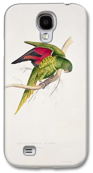 Matons Parakeet Galaxy S4 Case by Edward Lear