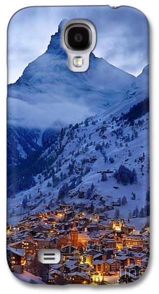 Wintry Galaxy S4 Cases - Matterhorn at Twilight Galaxy S4 Case by Brian Jannsen
