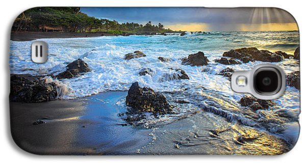 Wavy Galaxy S4 Cases - Maui Dawn Galaxy S4 Case by Inge Johnsson
