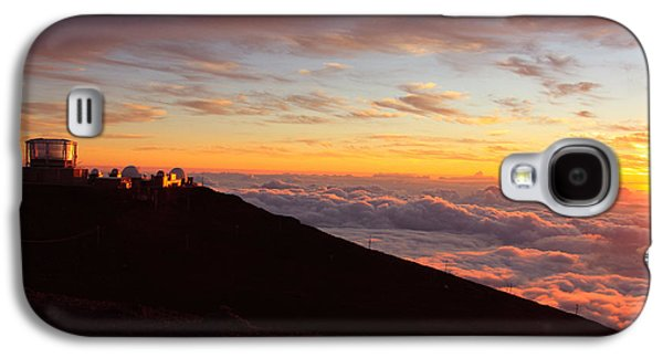 Sunset Posters Galaxy S4 Cases - Maui Hawaii sunset from Haleakala  Galaxy S4 Case by Christopher  Ward