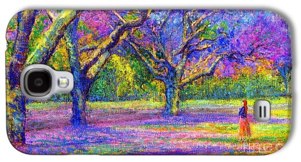 Mystical Landscape Paintings Galaxy S4 Cases - Mauve Majesty Galaxy S4 Case by Jane Small