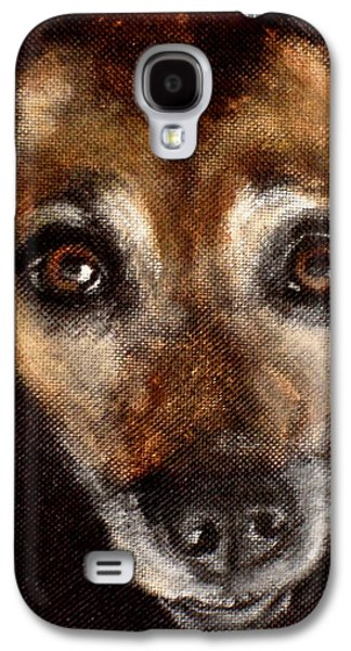 Dog Close-up Paintings Galaxy S4 Cases - Max Galaxy S4 Case by Carol Russell