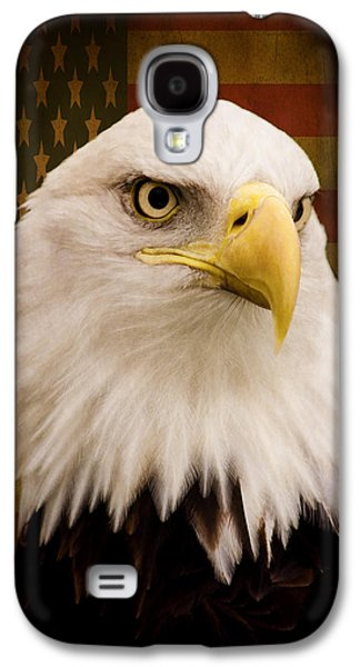Statue Portrait Galaxy S4 Cases - May Your Heart Soar Like An Eagle Galaxy S4 Case by Jordan Blackstone