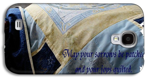 Block Quilts Tapestries - Textiles Galaxy S4 Cases - May Your Sorrows be Patched and Your Joys Quilted Galaxy S4 Case by Barbara Griffin