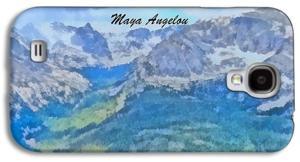 Author Mixed Media Galaxy S4 Cases - Maya Angelou Galaxy S4 Case by Dan Sproul