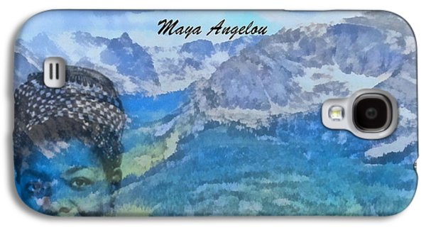 Author Mixed Media Galaxy S4 Cases - Maya Angelou Tribute Galaxy S4 Case by Dan Sproul