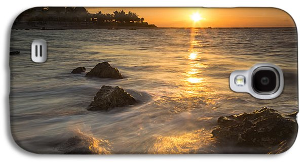 Landscapes Photographs Galaxy S4 Cases - Mayan Coastal Sunrise Galaxy S4 Case by Adam Romanowicz