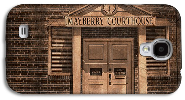 Andy Griffith Show Galaxy S4 Cases - Mayberry Courthouse Galaxy S4 Case by David Arment