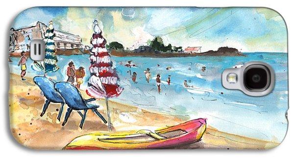 Canoe Drawings Galaxy S4 Cases - Mazarron Beach 03 Galaxy S4 Case by Miki De Goodaboom
