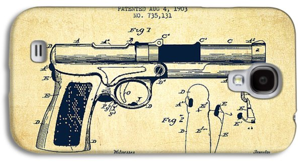 Mcclean Pistol Drawing From 1903 - Vintage Galaxy S4 Case by Aged Pixel