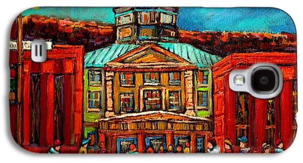 Montreal Buildings Paintings Galaxy S4 Cases - Mcgill Gates Montreal Galaxy S4 Case by Carole Spandau