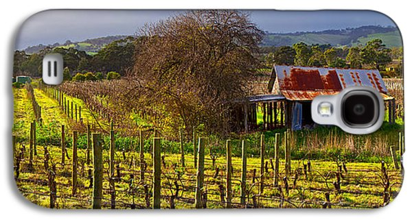 Abandoned House Photographs Galaxy S4 Cases - McLaren Flat Vineyard Galaxy S4 Case by Bill  Robinson