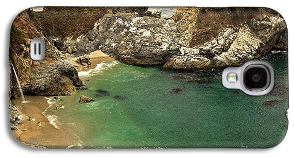 Big Sur Ca Galaxy S4 Cases - McWay Falling Into The Pacific Galaxy S4 Case by Adam Jewell