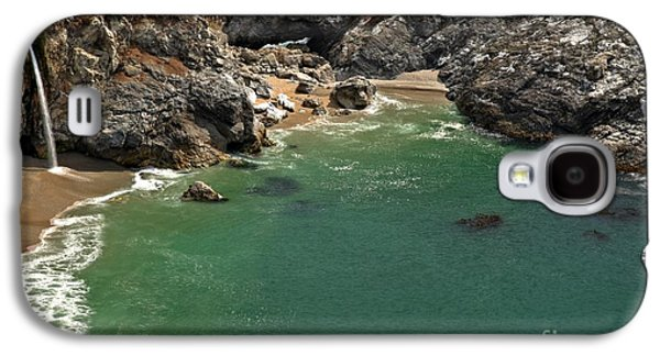 Big Sur Ca Galaxy S4 Cases - McWay Into The Bay Galaxy S4 Case by Adam Jewell