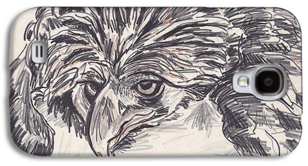 Mix Medium Drawings Galaxy S4 Cases - Mean eyes Galaxy S4 Case by David Chesnutt