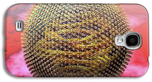 Measles Virus Galaxy S4 Cases - Measles Virus Particle, Artwork Galaxy S4 Case by Russell Kightley