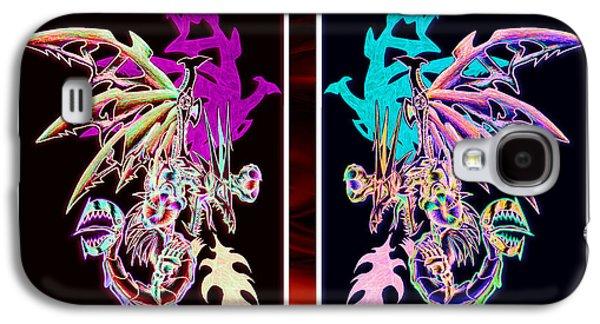 Mech Dragons Pastel Galaxy S4 Case by Shawn Dall