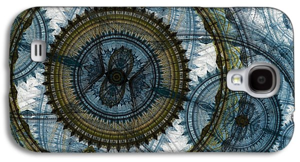 Suburban Digital Art Galaxy S4 Cases - Mechanical circles Galaxy S4 Case by Martin Capek