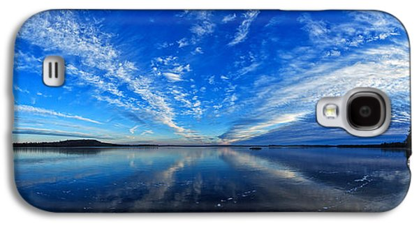 Maine Winter Galaxy S4 Cases - Meddybemps Blues 2 Panorama Galaxy S4 Case by Bill Caldwell -        ABeautifulSky Photography