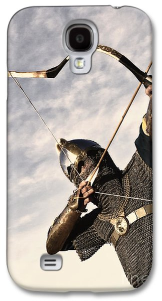 Knight Galaxy S4 Cases - Medieval Archer Galaxy S4 Case by Holly Martin