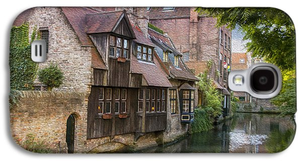 Historic Home Galaxy S4 Cases - Medieval Bruges Galaxy S4 Case by Juli Scalzi