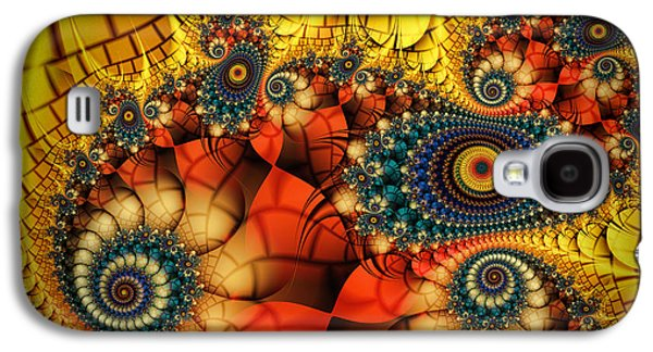 Mathematical Design Galaxy S4 Cases - Medieval Ceremonial-Fractal Art Galaxy S4 Case by Karin Kuhlmann