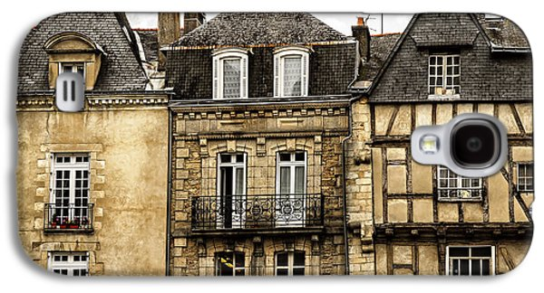 Town Galaxy S4 Cases - Medieval houses in Vannes Galaxy S4 Case by Elena Elisseeva
