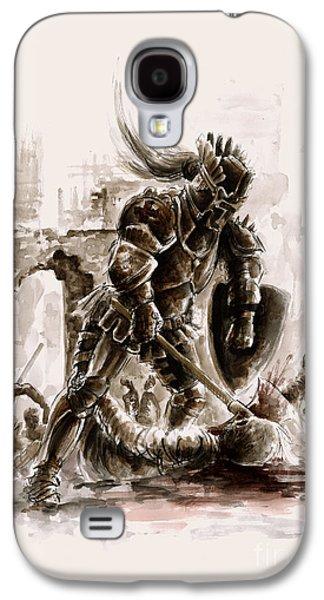 Medieval Knight Galaxy S4 Case by Mariusz Szmerdt