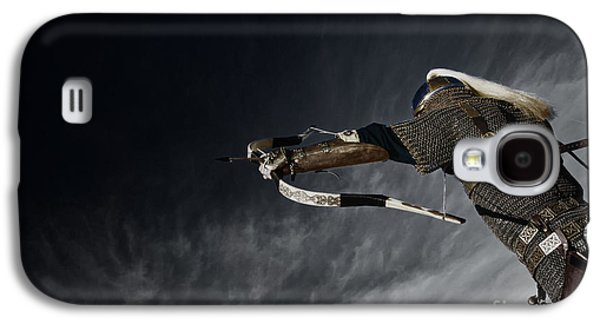 Fantasy Photographs Galaxy S4 Cases - Medieval Knight with Bow and Arrow Galaxy S4 Case by Holly Martin