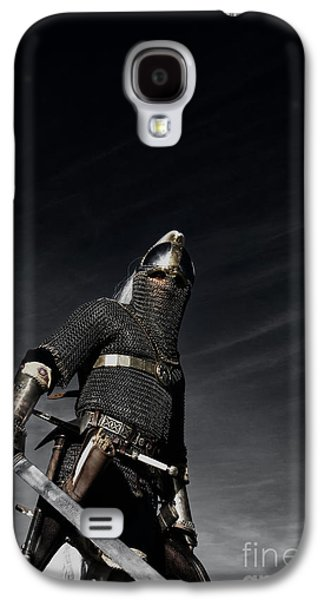 Knight Galaxy S4 Cases - Medieval Knight with Sword  Galaxy S4 Case by Holly Martin