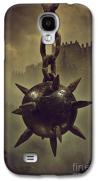 Mist Galaxy S4 Cases - Medieval Spike Ball  Galaxy S4 Case by Carlos Caetano