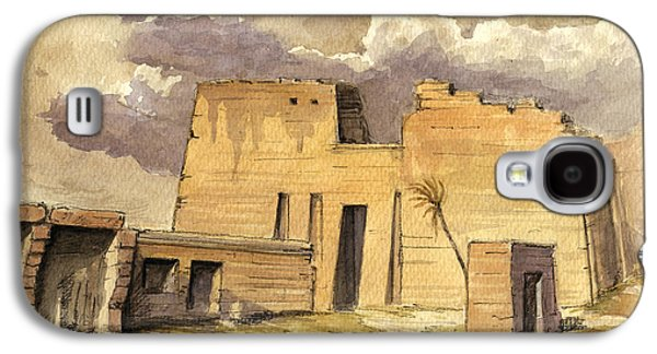 Orientalists Galaxy S4 Cases - Medinet temple Egypt Galaxy S4 Case by Juan  Bosco