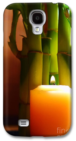 Meditative Photographs Galaxy S4 Cases - Meditation Candle and Bamboo Galaxy S4 Case by Olivier Le Queinec
