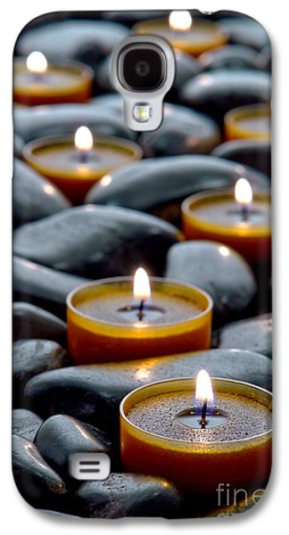 Glow Photographs Galaxy S4 Cases - Meditation Candles Galaxy S4 Case by Olivier Le Queinec