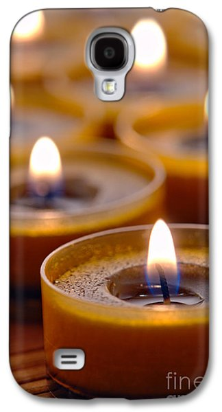 Meditative Photographs Galaxy S4 Cases - Meditation Candles Path Galaxy S4 Case by Olivier Le Queinec
