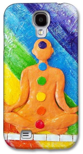Original Sculptures Galaxy S4 Cases - Meditation Galaxy S4 Case by Raya Finkelson